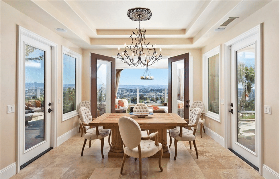 2 Vista Montemar, Laguna Niguel Dining Room With Chandelier And Stunning Views